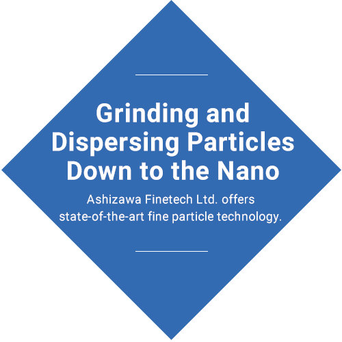 Milling and dispersing to nano size Nanoparticles change people's lives and the future.